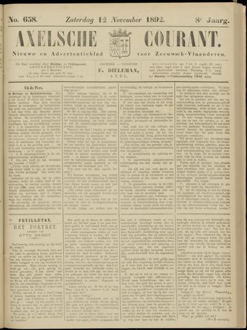 Axelsche Courant 1892-11-12