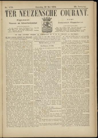 Ter Neuzensche Courant. Algemeen Nieuws- en Advertentieblad voor Zeeuwsch-Vlaanderen / Neuzensche Courant ... (idem) / (Algemeen) nieuws en advertentieblad voor Zeeuwsch-Vlaanderen 1882-05-20