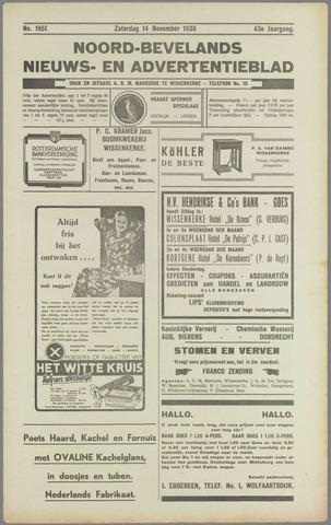 Noord-Bevelands Nieuws- en advertentieblad 1936-11-14