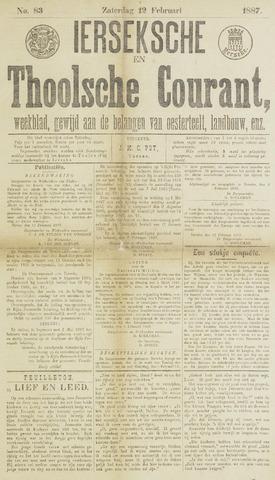 Ierseksche en Thoolsche Courant 1887-02-12