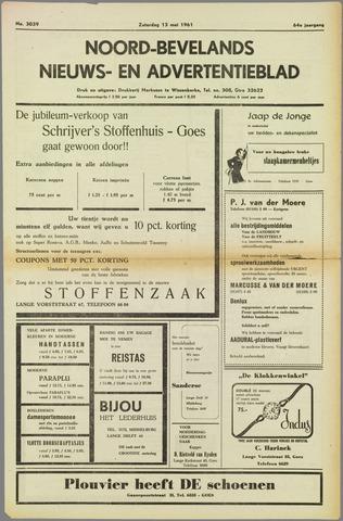 Noord-Bevelands Nieuws- en advertentieblad 1961-05-13