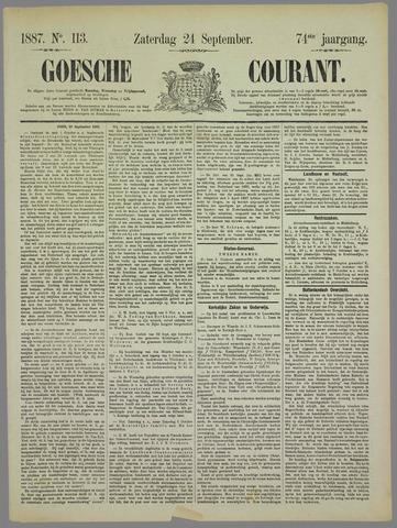 Goessche Courant 1887-09-24