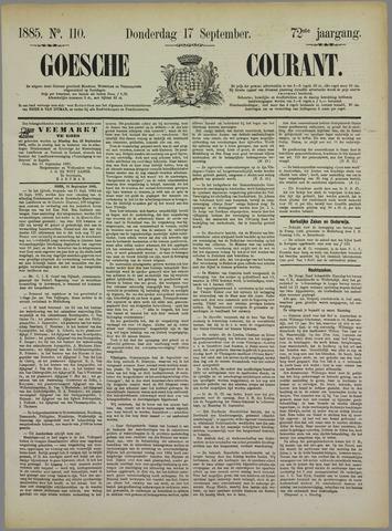 Goessche Courant 1885-09-17