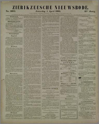 Zierikzeesche Nieuwsbode 1885-04-04
