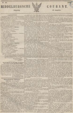 Middelburgsche Courant 1850-08-13