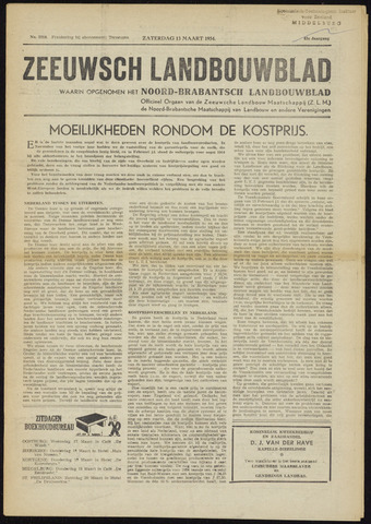Zeeuwsch landbouwblad ... ZLM land- en tuinbouwblad 1954-03-13