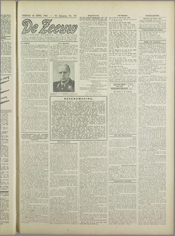 De Zeeuw. Christelijk-historisch nieuwsblad voor Zeeland 1943-04-30