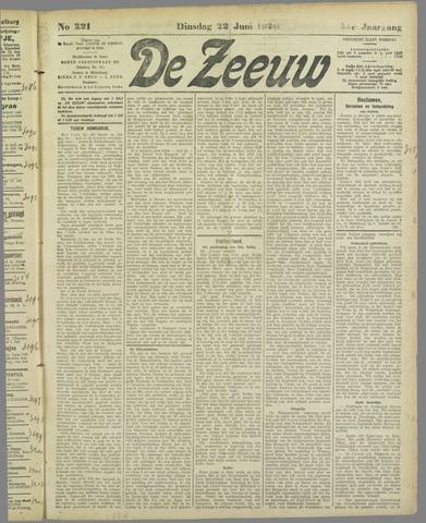 De Zeeuw. Christelijk-historisch nieuwsblad voor Zeeland 1920-06-22