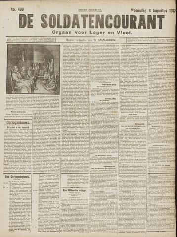 De Soldatencourant. Orgaan voor Leger en Vloot 1917-08-08