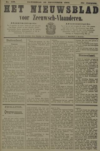 Nieuwsblad voor Zeeuwsch-Vlaanderen 1900-11-10
