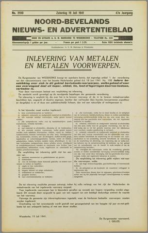 Noord-Bevelands Nieuws- en advertentieblad 1941-07-19