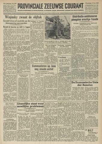 Provinciale Zeeuwse Courant 1948-10-13