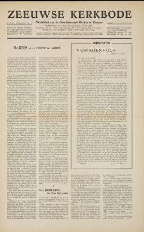 Zeeuwsche kerkbode, weekblad gewijd aan de belangen der gereformeerde kerken/ Zeeuwsch kerkblad 1955-08-19