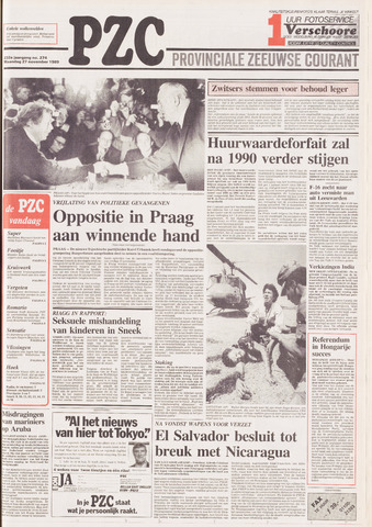 Provinciale Zeeuwse Courant 1989-11-27