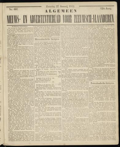 Ter Neuzensche Courant. Algemeen Nieuws- en Advertentieblad voor Zeeuwsch-Vlaanderen / Neuzensche Courant ... (idem) / (Algemeen) nieuws en advertentieblad voor Zeeuwsch-Vlaanderen 1872-01-27