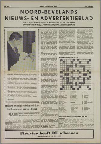 Noord-Bevelands Nieuws- en advertentieblad 1967-09-02