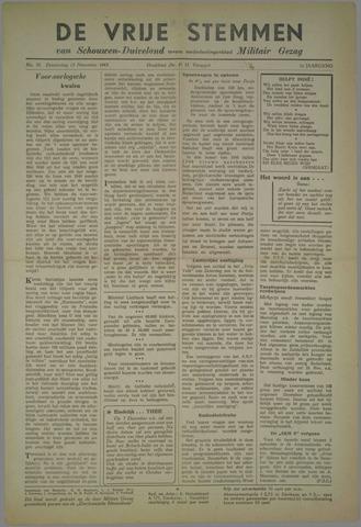 Vrije Stemmen van Schouwen-Duiveland, tevens mededeelingenblad Militair Gezag 1945-11-15