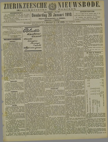 Zierikzeesche Nieuwsbode 1910-01-20