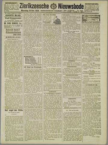 Zierikzeesche Nieuwsbode 1924-11-24