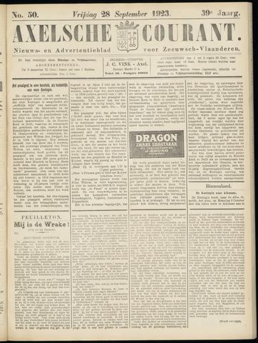Axelsche Courant 1923-09-28