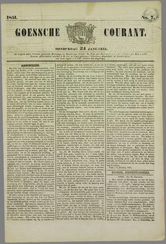 Goessche Courant 1851-01-24