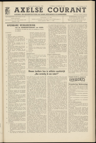 Axelsche Courant 1967-02-25