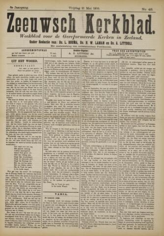 Zeeuwsche kerkbode, weekblad gewijd aan de belangen der gereformeerde kerken/ Zeeuwsch kerkblad 1909-05-21
