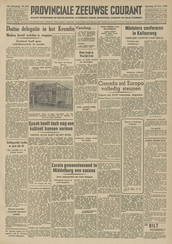 Provinciale Zeeuwse Courant 1948-11-27