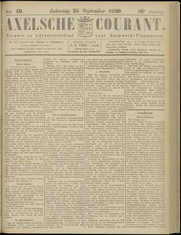 Axelsche Courant 1920-09-25