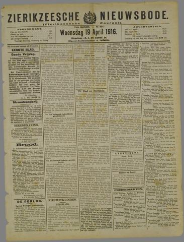 Zierikzeesche Nieuwsbode 1916-04-19