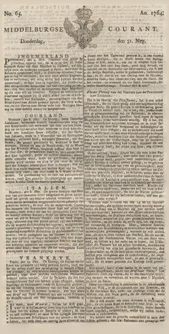Middelburgsche Courant 1764-05-31