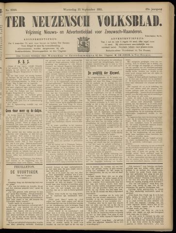 Ter Neuzensch Volksblad. Vrijzinnig nieuws- en advertentieblad voor Zeeuwsch- Vlaanderen / Zeeuwsch Nieuwsblad. Nieuws- en advertentieblad voor Zeeland 1911-09-13