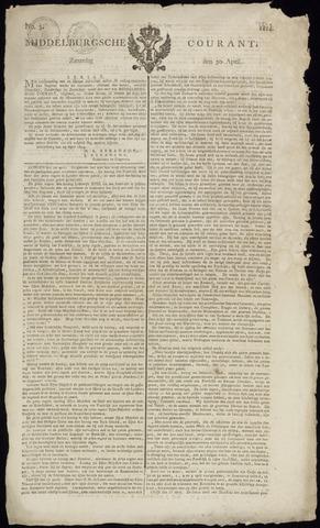 Middelburgsche Courant 1814-04-30