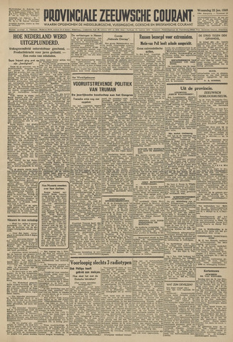Provinciale Zeeuwse Courant 1946-01-23