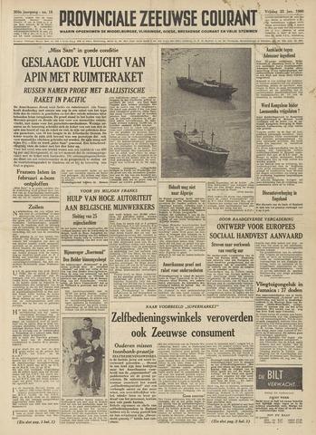 Provinciale Zeeuwse Courant 1960-01-22