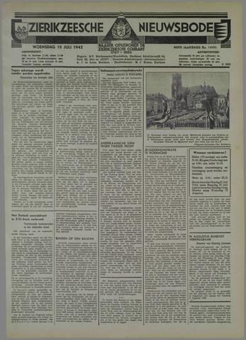 Zierikzeesche Nieuwsbode 1942-07-15