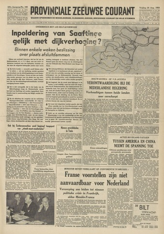 Provinciale Zeeuwse Courant 1954-08-20