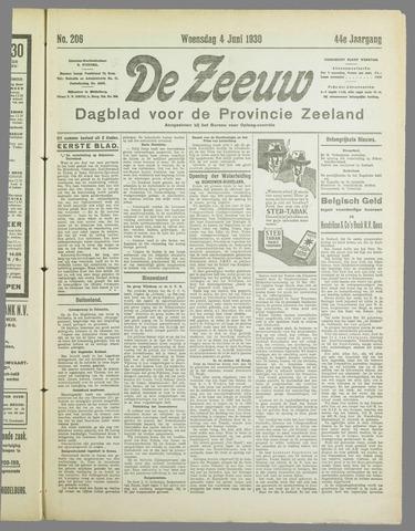 De Zeeuw. Christelijk-historisch nieuwsblad voor Zeeland 1930-06-04