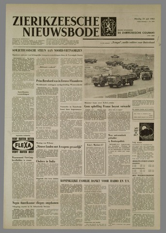 Zierikzeesche Nieuwsbode 1965-07-13