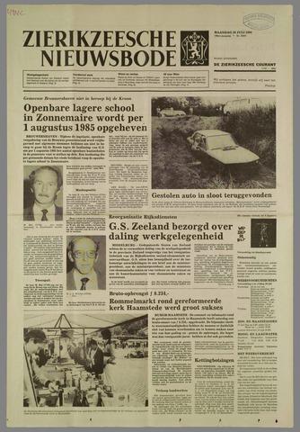 Zierikzeesche Nieuwsbode 1984-07-16