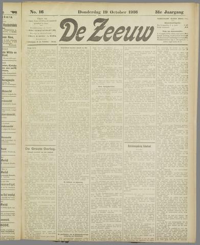De Zeeuw. Christelijk-historisch nieuwsblad voor Zeeland 1916-10-19