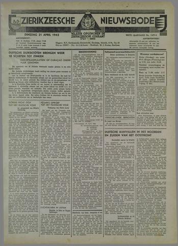 Zierikzeesche Nieuwsbode 1942-04-21