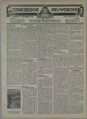 Zierikzeesche Nieuwsbode 1942-11-09