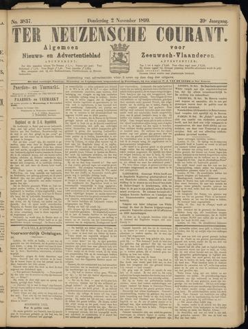 Ter Neuzensche Courant. Algemeen Nieuws- en Advertentieblad voor Zeeuwsch-Vlaanderen / Neuzensche Courant ... (idem) / (Algemeen) nieuws en advertentieblad voor Zeeuwsch-Vlaanderen 1899-11-02