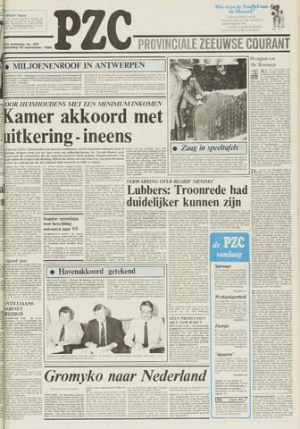 Provinciale Zeeuwse Courant 1984-09-26