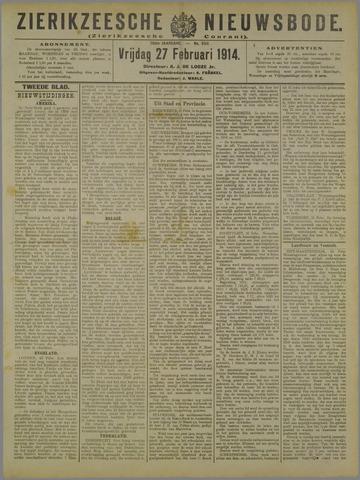Zierikzeesche Nieuwsbode 1914-02-27