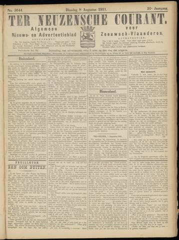 Ter Neuzensche Courant. Algemeen Nieuws- en Advertentieblad voor Zeeuwsch-Vlaanderen / Neuzensche Courant ... (idem) / (Algemeen) nieuws en advertentieblad voor Zeeuwsch-Vlaanderen 1911-08-08