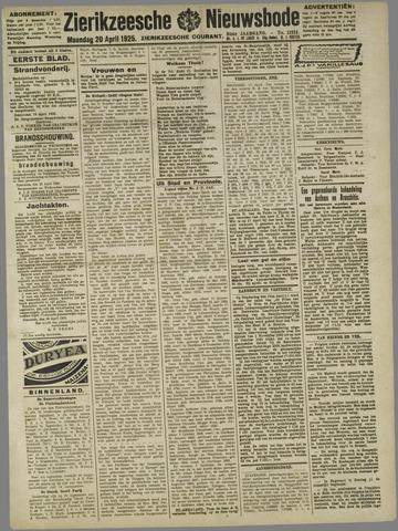 Zierikzeesche Nieuwsbode 1925-04-20