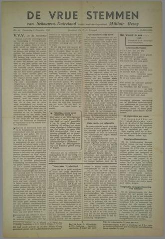 Vrije Stemmen van Schouwen-Duiveland, tevens mededeelingenblad Militair Gezag 1945-11-08