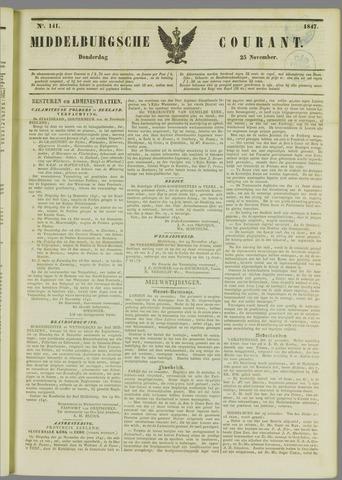 Middelburgsche Courant 1847-11-25